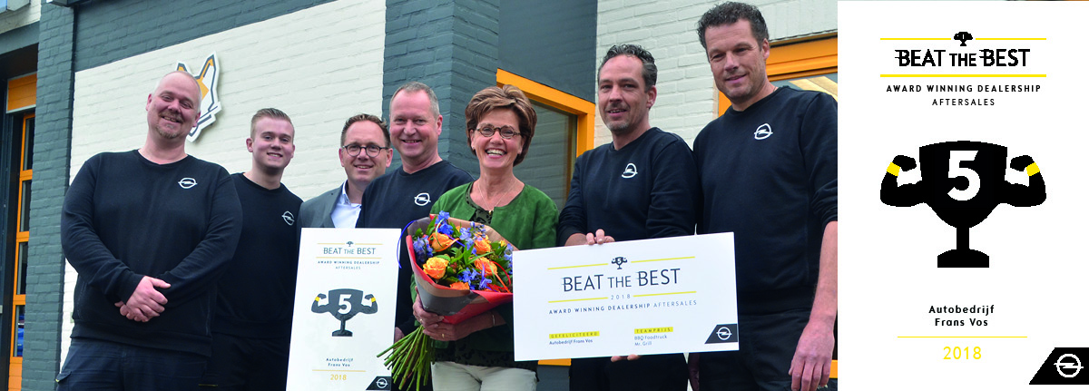 Frans Vos wint Beat the Best Award 2018